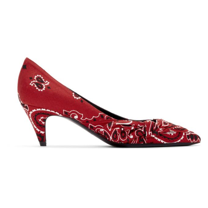 Saint Laurent Chaussures a talons hauts rouges Charlotte Bandana