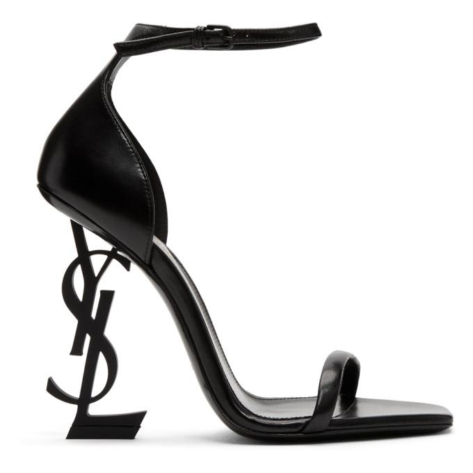Saint Laurent Black Opyum Heeled Sandals