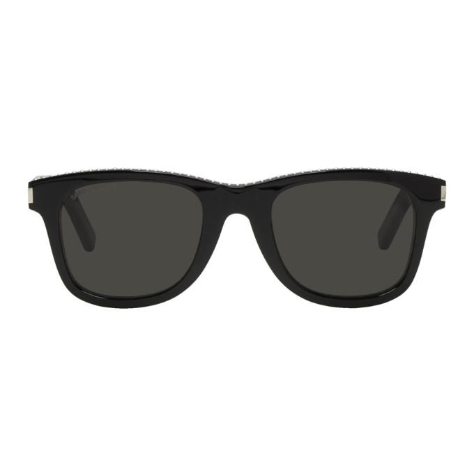 Saint Laurent ブラック クラシック SL51 スタッド サングラス