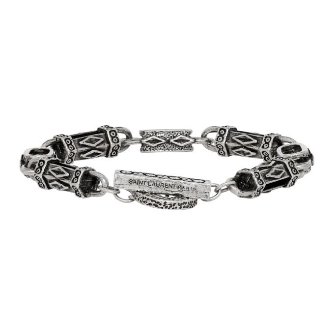 Saint Laurent Silver Navajo Bracelet