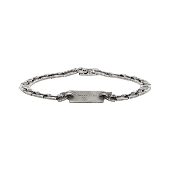 Saint Laurent Silver Plate Bracelet
