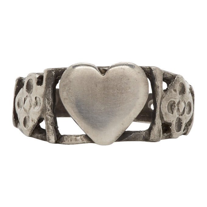 89f5b4f0c09d Saint Laurent Silver Heart Ring