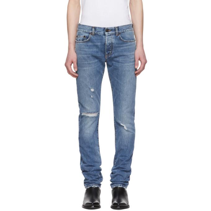 768e8f122b Saint Laurent Blue Slim Jeans 191418M18600808