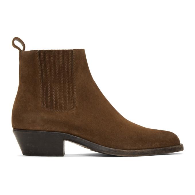 Dakota Suede Chelsea Boots In Brown