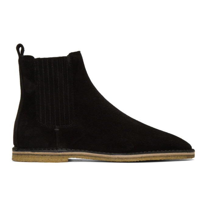 2c88e921932 Saint Laurent Black Suede Nino Chelsea Boots