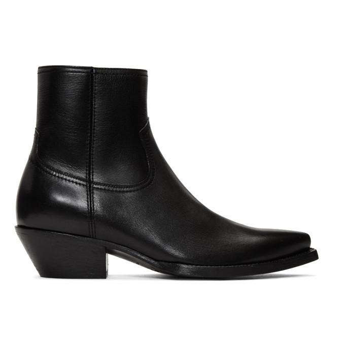 Saint Laurent Black Lukas Boots