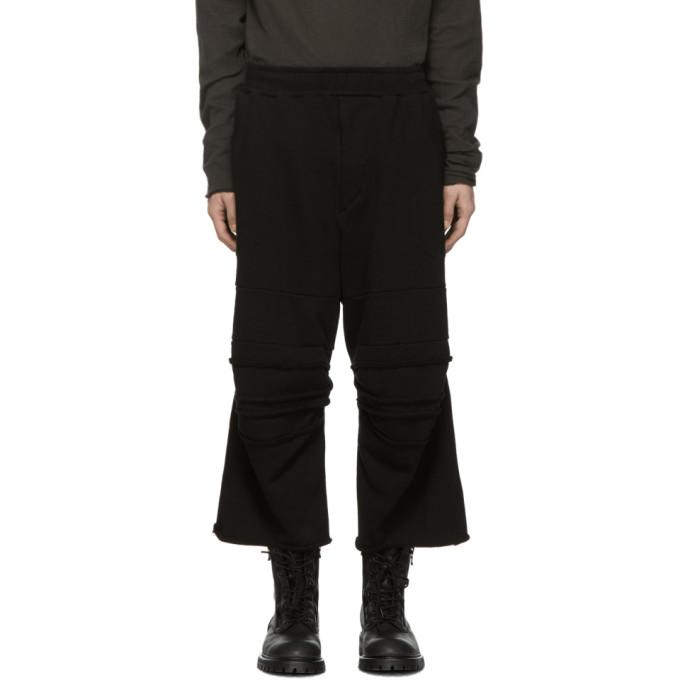 Julius Pantalon de survetement noir Baggy Knee Crash