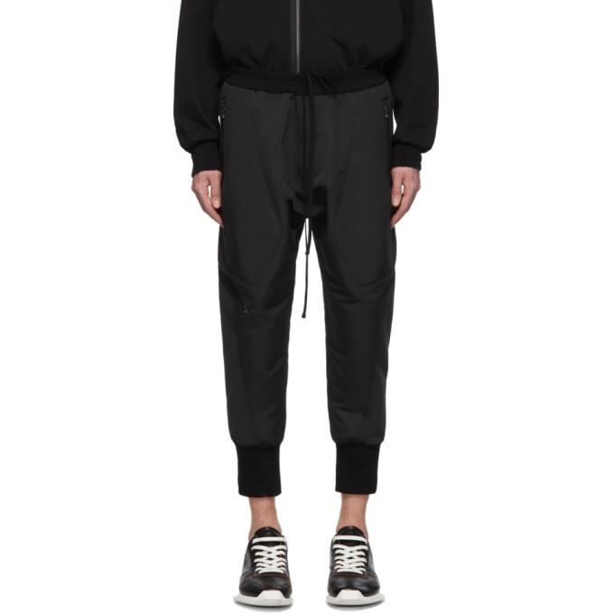 Julius Pantalon de survetement en gros-grain noir