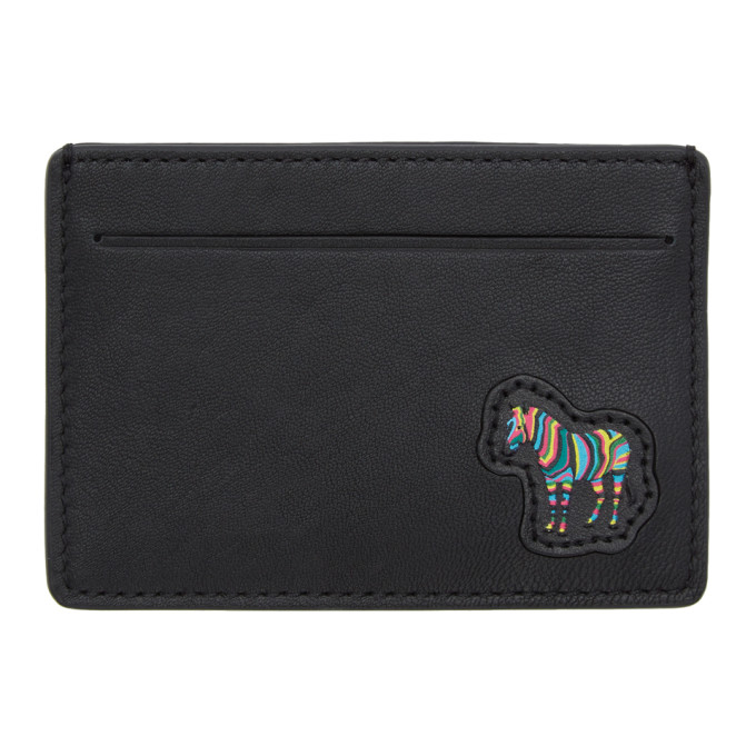 PS BY PAUL SMITH | PS by Paul Smith Black Zebra Card Holder | Goxip