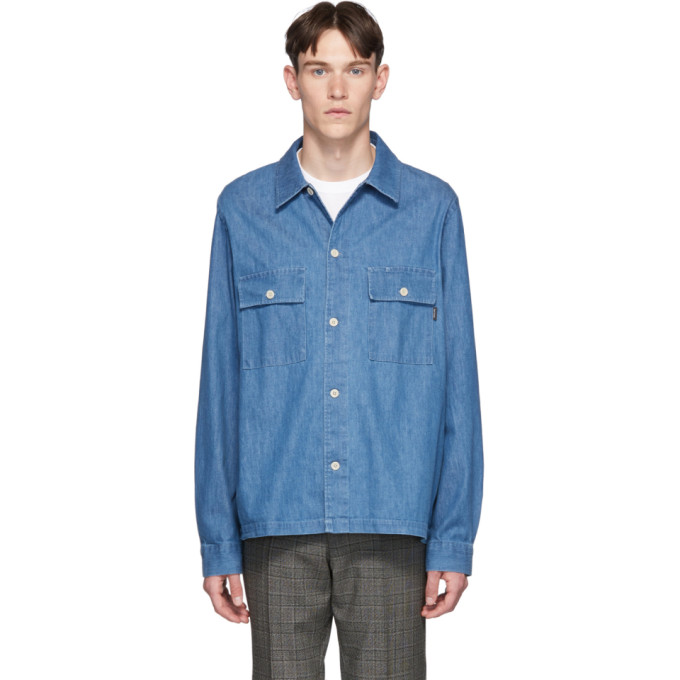 PS PAUL SMITH | PS By Paul Smith Blue Denim Over Shirt | Goxip