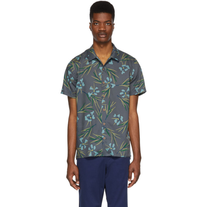 PS by Paul Smith Chemise fleurie grise Casual