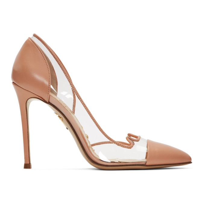 CHARLOTTE OLYMPIA   Charlotte Olympia Transparent And Pink Kitty Heels   Goxip