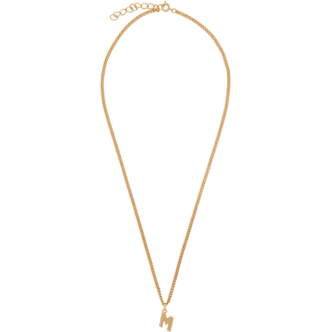 MSGM Gold 'M' Necklace