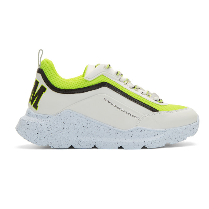 MSGM White & Yellow College Hiking Sneakers