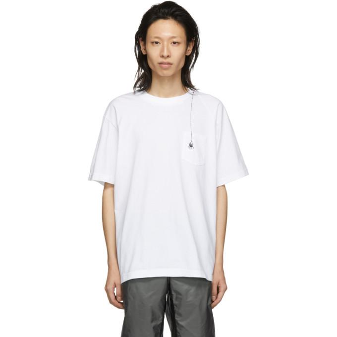 Sacai T-shirts SACAI WHITE DR. WOO EDITION EMBROIDERED SPIDER T-SHIRT