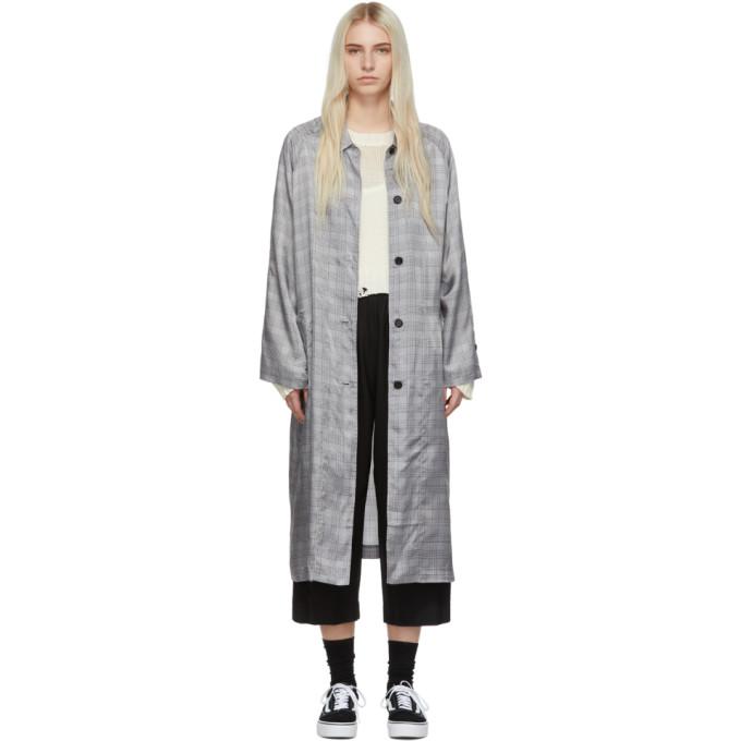 6397 Grey Plaid Raglan Coat thumbnail