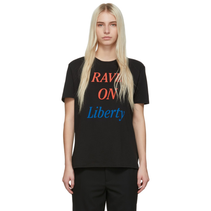 Image of 6397 Black 'Rave On Liberty' Boy T-Shirt