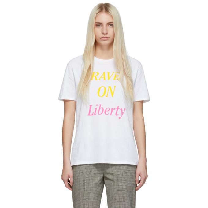 6397 T-shirt blanc Rave On Liberty Boy