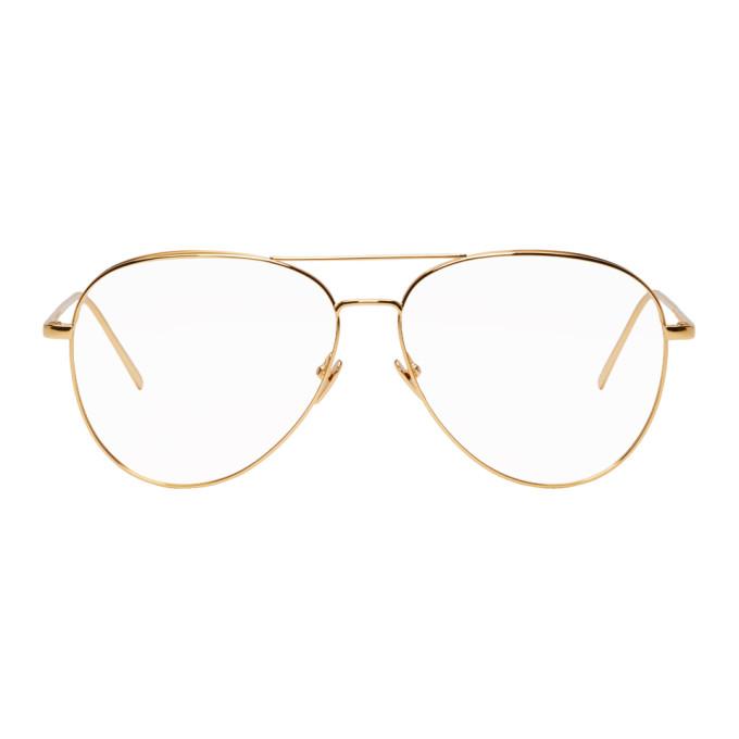 LINDA FARROW LUXE Linda Farrow Luxe Gold 751 C1 Glasses in Yellowgold