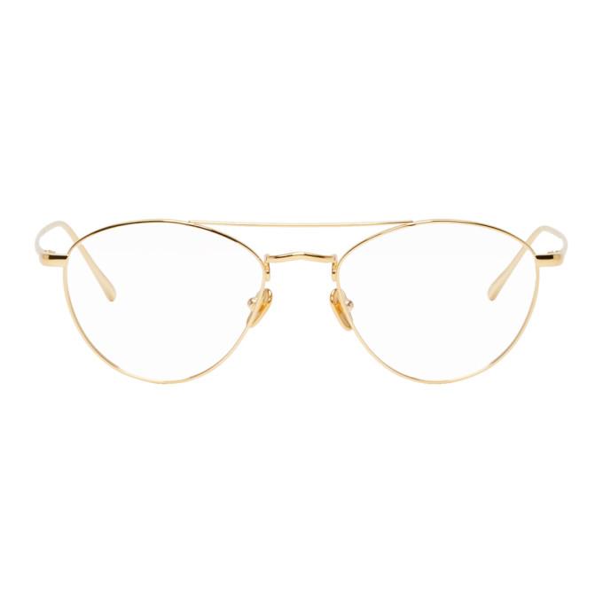 LINDA FARROW LUXE Linda Farrow Luxe Gold 876 C8 Glasses in Yellow Gold