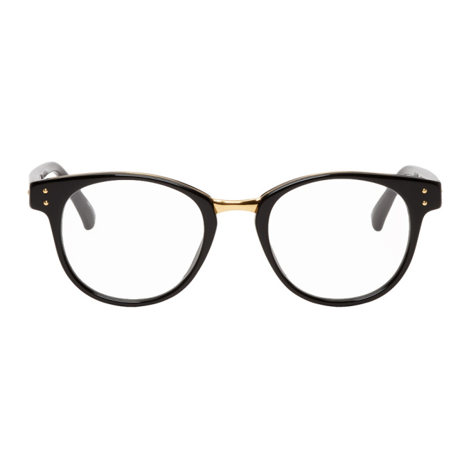 LINDA FARROW LUXE Linda Farrow Luxe Black 581 C7 Glasses in Blk/Yllwgld