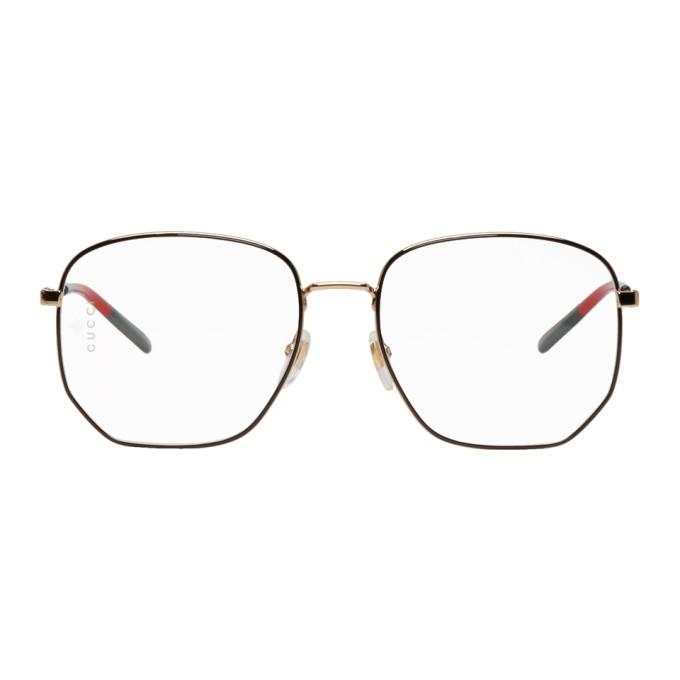 Gucci Black & Gold Octagonal Glasses