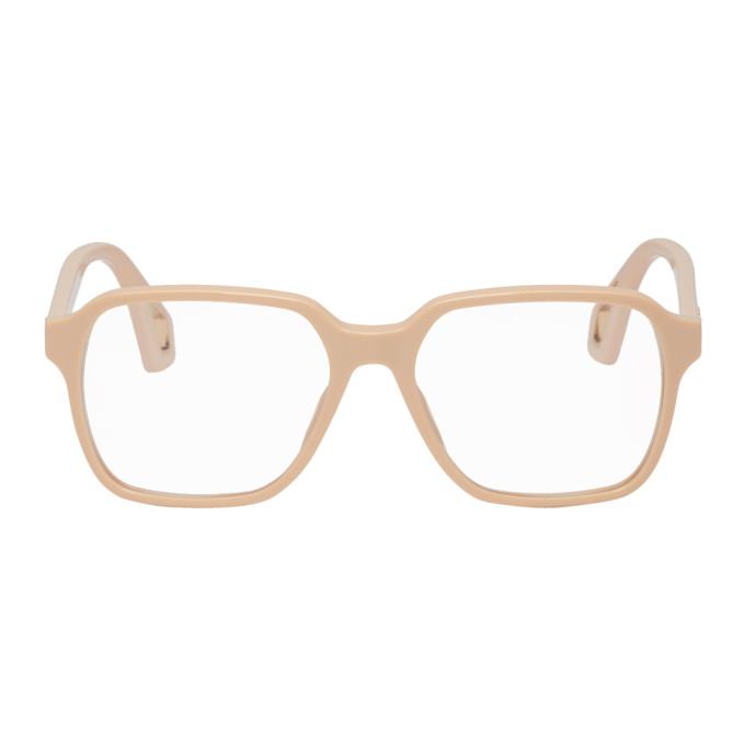 GUCCI | Gucci Beige Square Glasses | Goxip