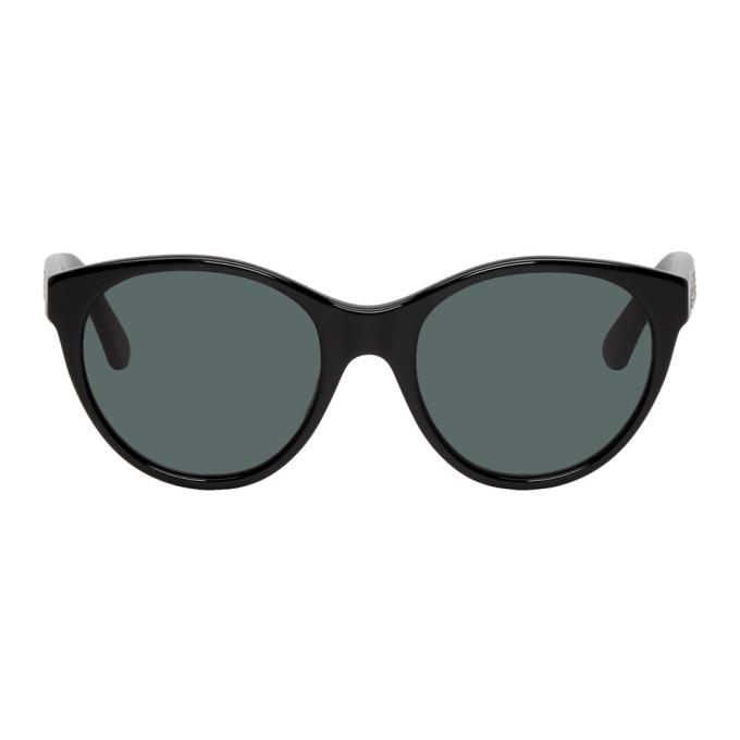 Gucci Black Crystal Logo Cat-Eye Sunglasses