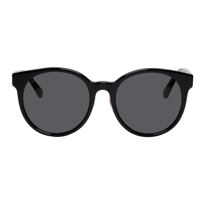Gucci Black Urban Socks Round Sunglasses