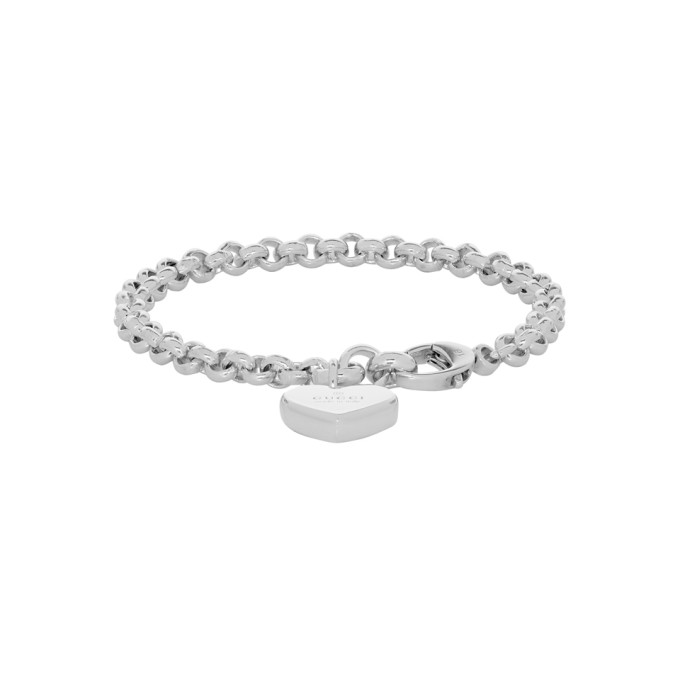 12a798004 Gucci Silver Heart Bracelet