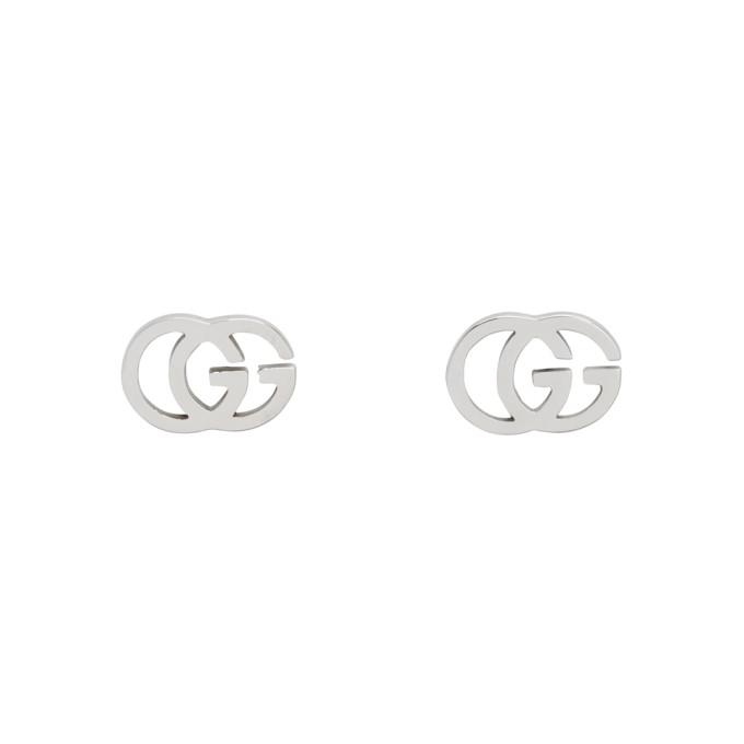 Gucci Silver GG Tissue Stud Earrings