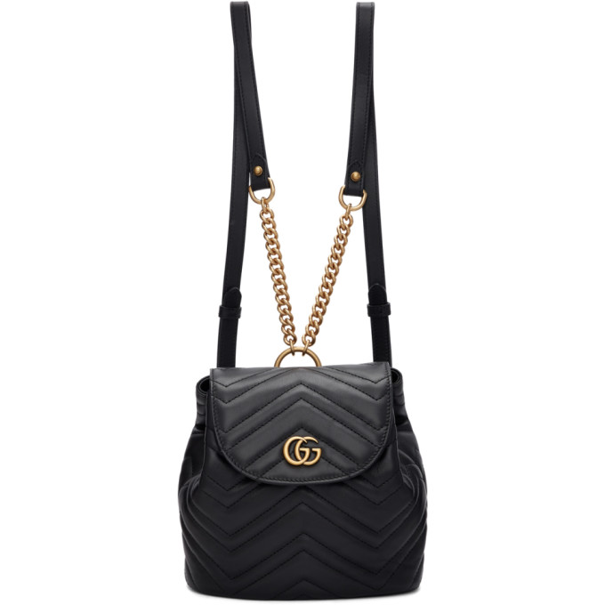 c725b081ddc8 Gucci Gg Marmont 2.0 Matelasse Leather Mini Backpack - Black In 1000 Black