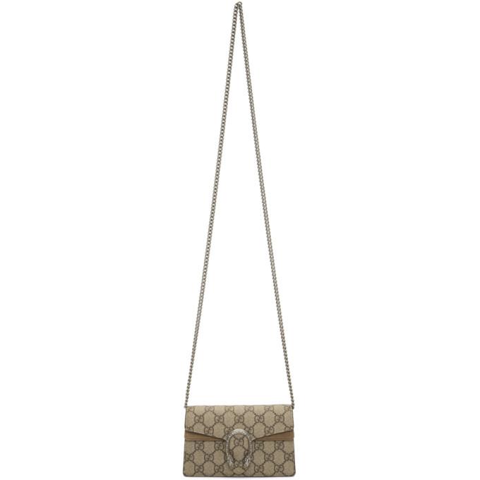 9aae1f6f774 Gucci Beige GG Supreme Super Mini Dionysus Bag