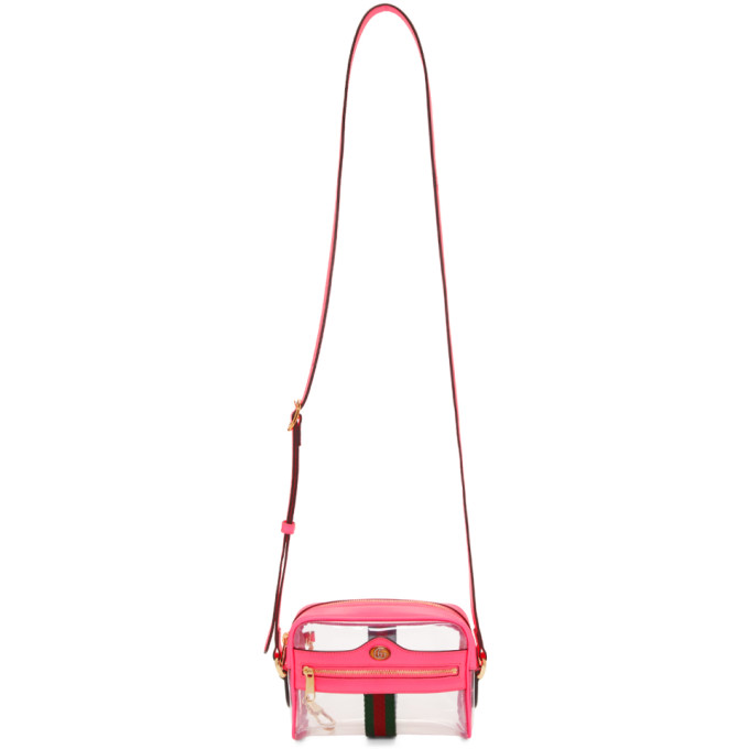 GUCCI   Gucci Transparent And Pink Ghost Ophidia Bag   Goxip