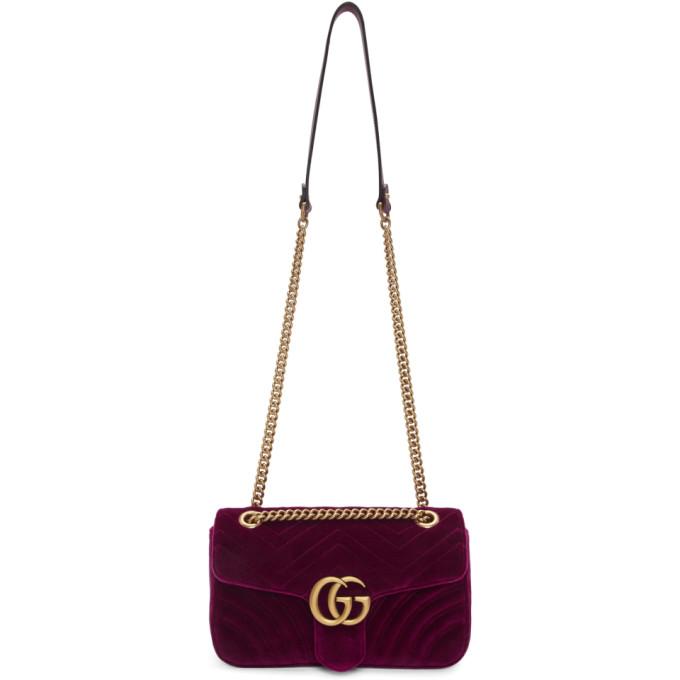 d44f8814d Gucci Purple Small Velvet GG Marmont 20 Bag