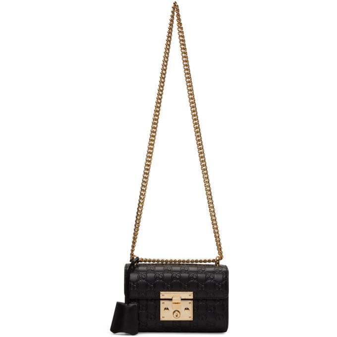 Gucci Black Small GG Padlock Bag