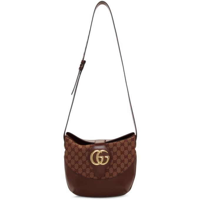 Gucci Burgundy Medium GG Arli Bag