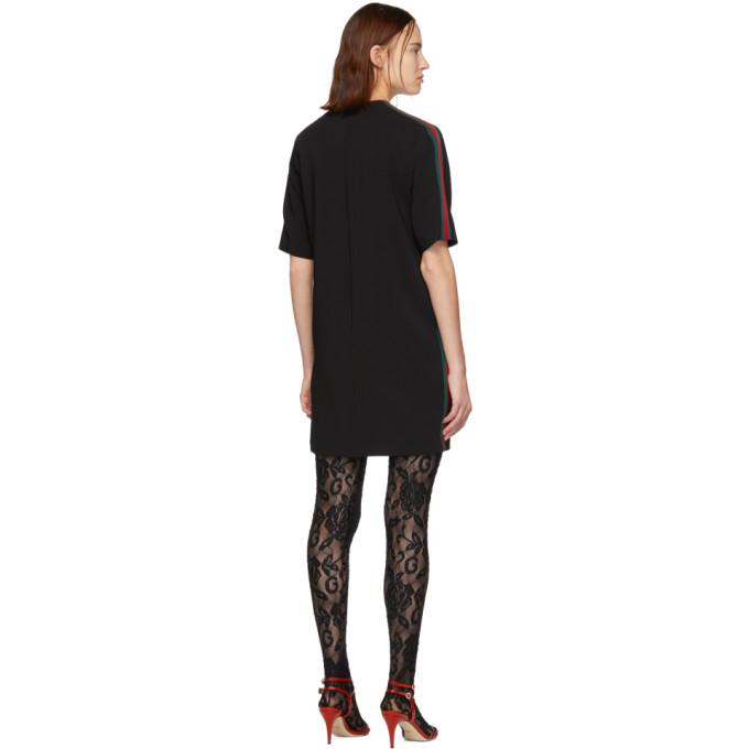 d2ba847dc8fcb Gucci Black Web Tunic Dress In 1060 Black