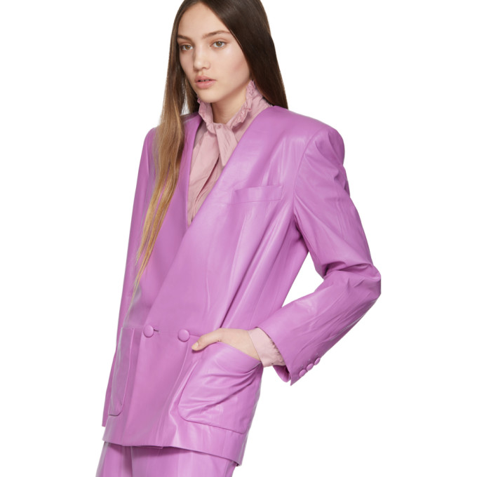 a3f11269d Gucci Oversize Leather Jacket In Pink | ModeSens
