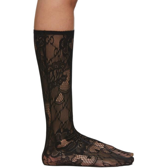 GUCCI | Gucci Black Blossom GG Socks | Goxip