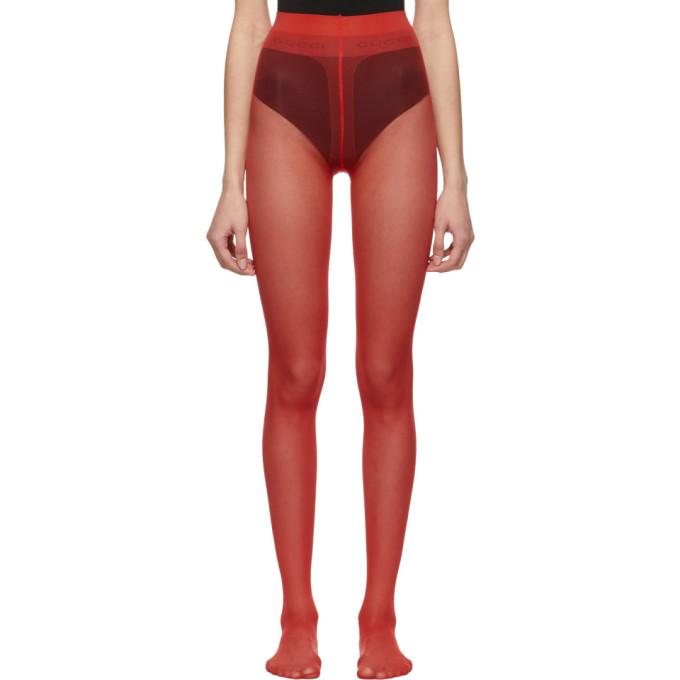 Gucci Collant rouge Plain Logo