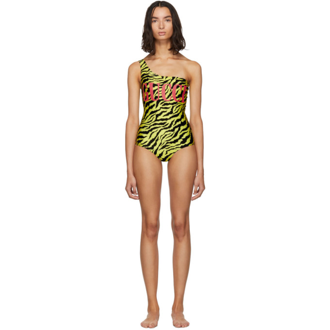 5f89c5aa42f58 Gucci Women's 553896Xjann7412 Yellow Polyamide One-Piece Suit | ModeSens
