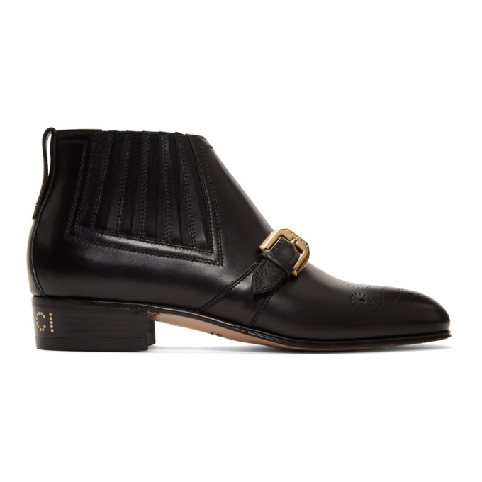 Gucci Black Worsh Boots