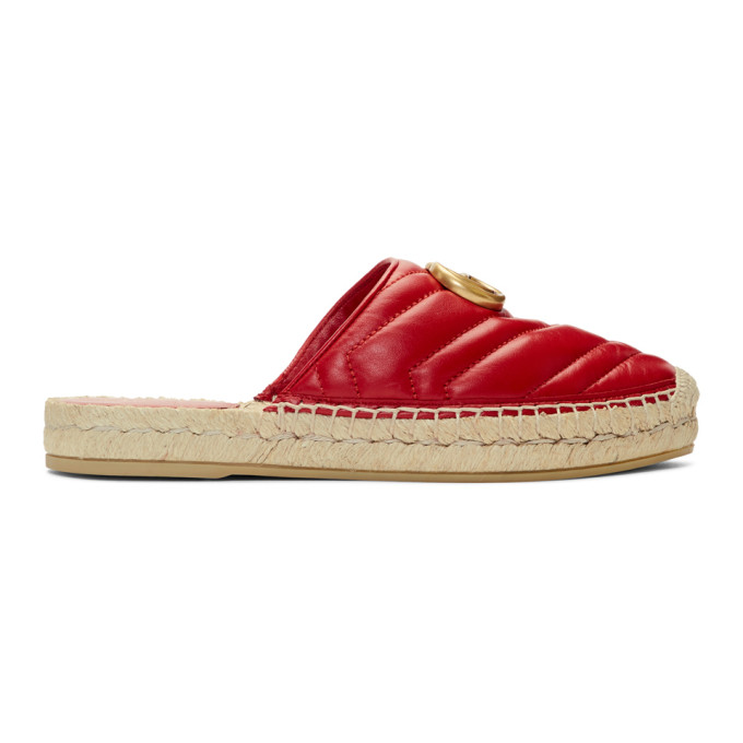 Gucci Red Charlotte Slip-On Espadrilles