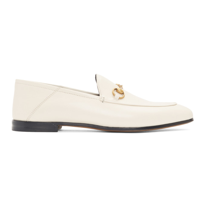 5103a03adb5 Gucci Horsebit Leather Loafers In 9022 White