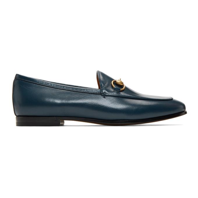 Gucci Blue Jordaan Loafers