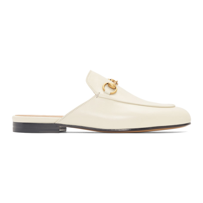 Gucci Off-White Princetown Slip-On Loafers