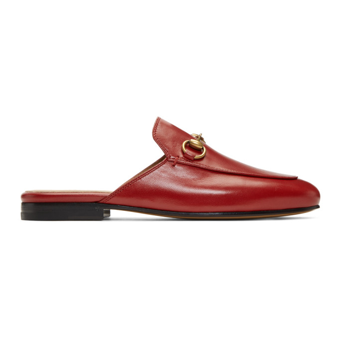 Gucci Red Princetown Slippers