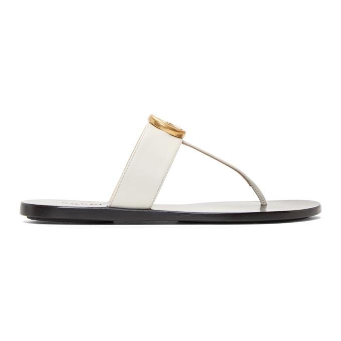 Gucci White Marmont Sandals