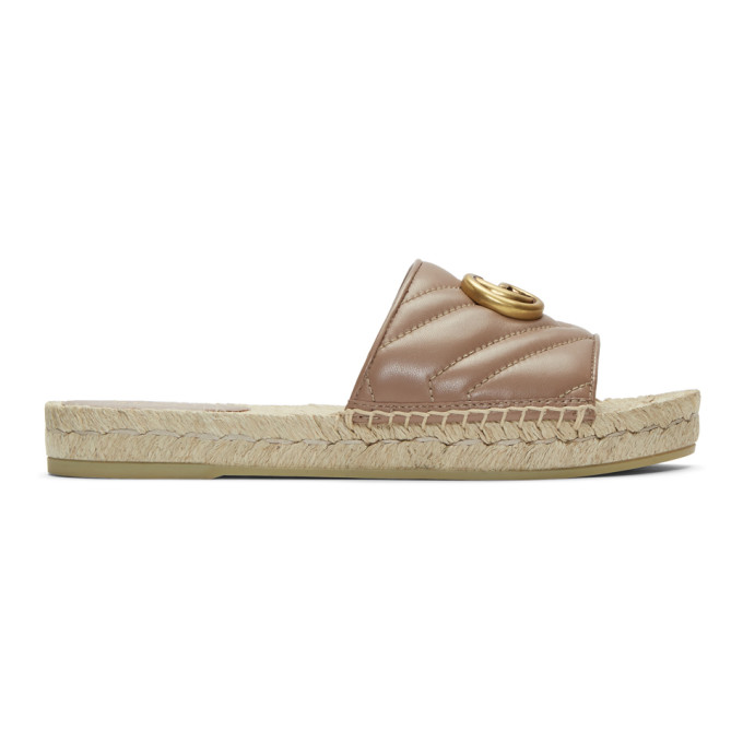 d8edf235a Gucci Pink Charlotte Espadrille Sandals In 5729 Pink | ModeSens